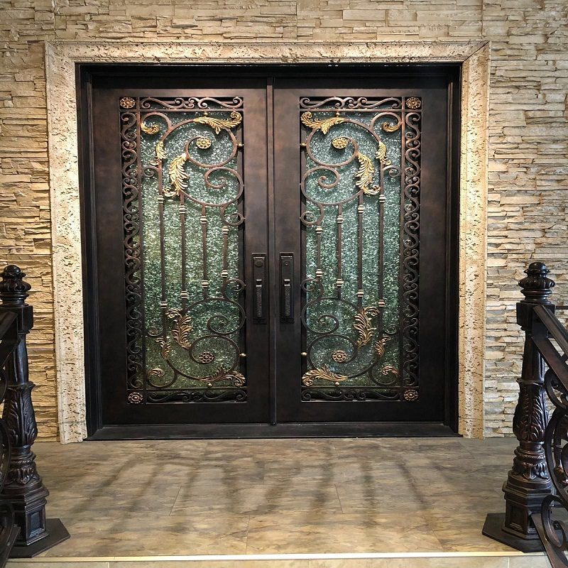 Custom wrought iron door