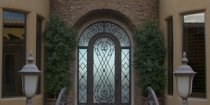 single-wrought-iron-doors-small-entryways-677x340